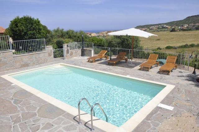 Panorama verso il mare di Sardegna